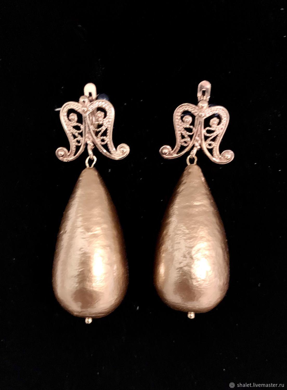Earrings classic: Golden Fleece, Earrings, Kaluga,  Фото №1