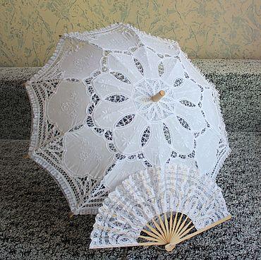 Аксессуары ручной работы. Ярмарка Мастеров - ручная работа Кружевной зонт №8. Handmade.