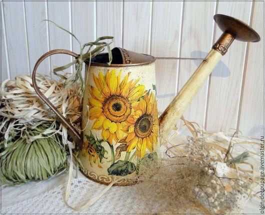 """Лейки ручной работы. Ярмарка Мастеров - ручная работа. Купить Лейка """"Подсолнухи"""". Handmade. Желтый, сталь, ваза для сухоцветов"""