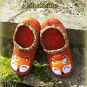 """Обувь ручной работы. Ярмарка Мастеров - ручная работа тапочки валяные """"Лисички"""". Handmade."""