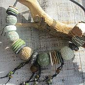 """Украшения ручной работы. Ярмарка Мастеров - ручная работа Бусы """"Мох и камни"""". Handmade."""