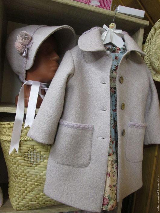 """Верхняя одежда ручной работы. Ярмарка Мастеров - ручная работа. Купить Пальто """" Крем - брюле """"и капор.. Handmade."""