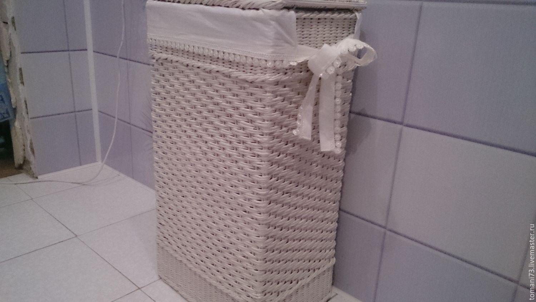 Короб для белья своими руками в ванной 4