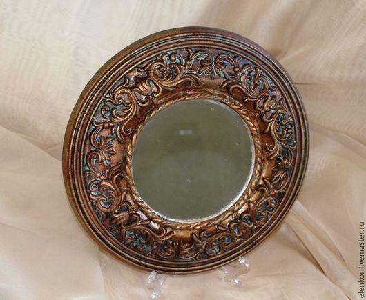"""Зеркала ручной работы. Ярмарка Мастеров - ручная работа. Купить Зеркало """"Старинное"""". Handmade. Коричневый, зеркало в раме"""