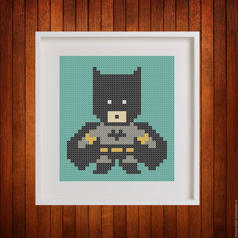 Схемы для вышивки бэтмен