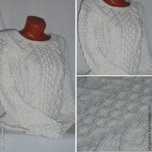 Кофты и свитера ручной работы. Ярмарка Мастеров - ручная работа. Купить Джемпер Белый. Handmade. Белый, джемпер вязаный, теплый