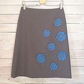 """Одежда ручной работы. Ярмарка Мастеров - ручная работа Юбка """"Голубые цветы"""". Handmade."""