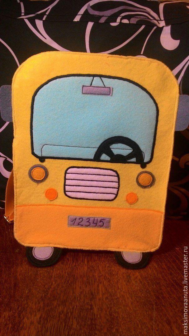 Рюкзаки ручной работы. Ярмарка Мастеров - ручная работа. Купить Рюкзак автобус. Handmade. Для детей, однотонный