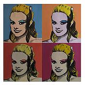 Картины и панно ручной работы. Ярмарка Мастеров - ручная работа Портрет в стиле Поп-Арт. Handmade.