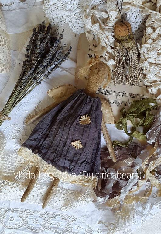 Ароматизированные куклы ручной работы. Ярмарка Мастеров - ручная работа. Купить Ангел в сером платье. Handmade. Темно-серый, синтепон