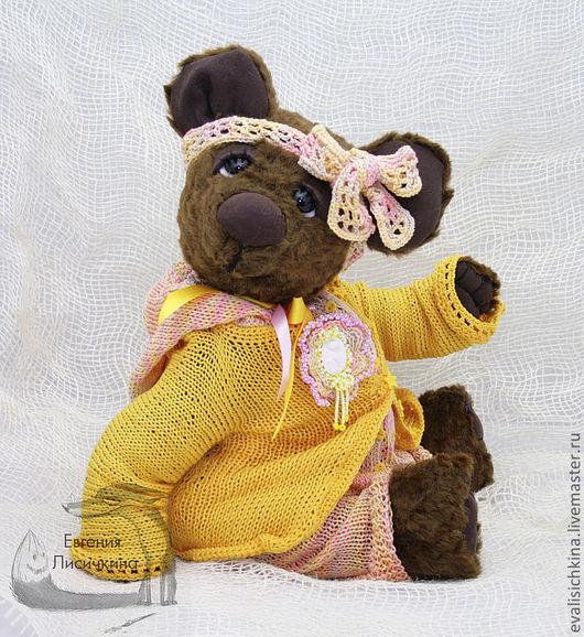 Мишки Тедди ручной работы. Ярмарка Мастеров - ручная работа. Купить Мишка Сьюзи. Handmade. Желтый, мишка тедди