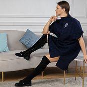 Одежда handmade. Livemaster - original item Winter woolen tunic dress under boots. Handmade.