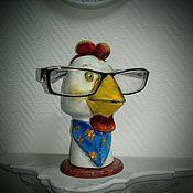 Подарки к праздникам ручной работы. Ярмарка Мастеров - ручная работа Петушок  подставка под очки. Handmade.