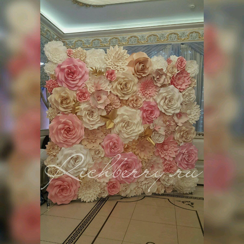 Большие цветы фото стена