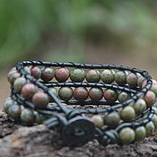 Украшения handmade. Livemaster - original item Harmony. Or The Mountains Of North Carolina. Men`s bracelet with Jasper. Handmade.