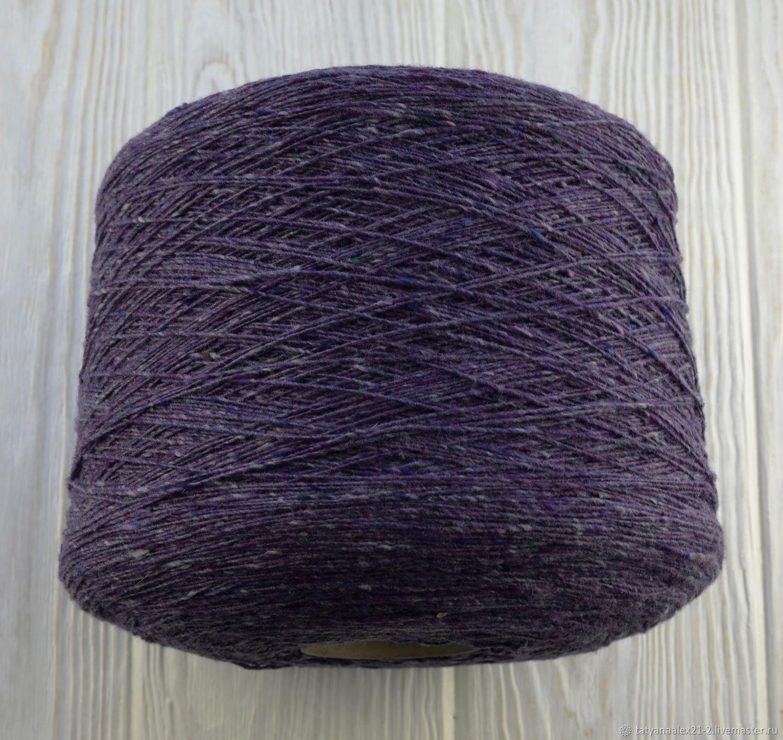 Вязание ручной работы. Ярмарка Мастеров - ручная работа. Купить Soft Donegal Tweed (пряжа мериносовая на бобинах) 5582 Purple Heart. Handmade.