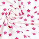 Шитье ручной работы. Ярмарка Мастеров - ручная работа. Купить Немецкий хлопок ярко-розовые звездочки. Handmade. Розовый, звездочки