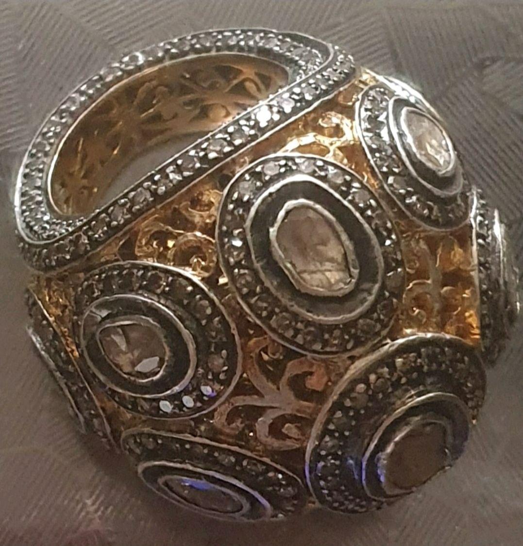 Авторское кольцо с алмазами, Кольца, Москва,  Фото №1