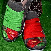 Обувь ручной работы. Ярмарка Мастеров - ручная работа Кеды женские. Handmade.