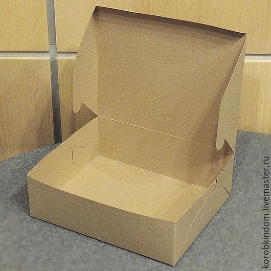 Упаковка ручной работы. Ярмарка Мастеров - ручная работа. Купить Коробка 24х19,5х7,5 крафт коричневый. Handmade. Коробочка