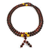Украшения handmade. Livemaster - original item Rosary from NAT. amber 108 beads cherry honey antique. Handmade.
