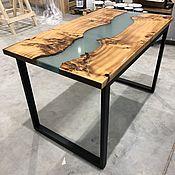 Столы ручной работы. Ярмарка Мастеров - ручная работа Стол река из капавого тополя. Handmade.