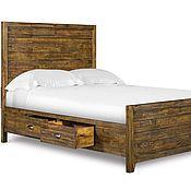 Двуспальная кровать из массива с высоким изголовьем Эмма