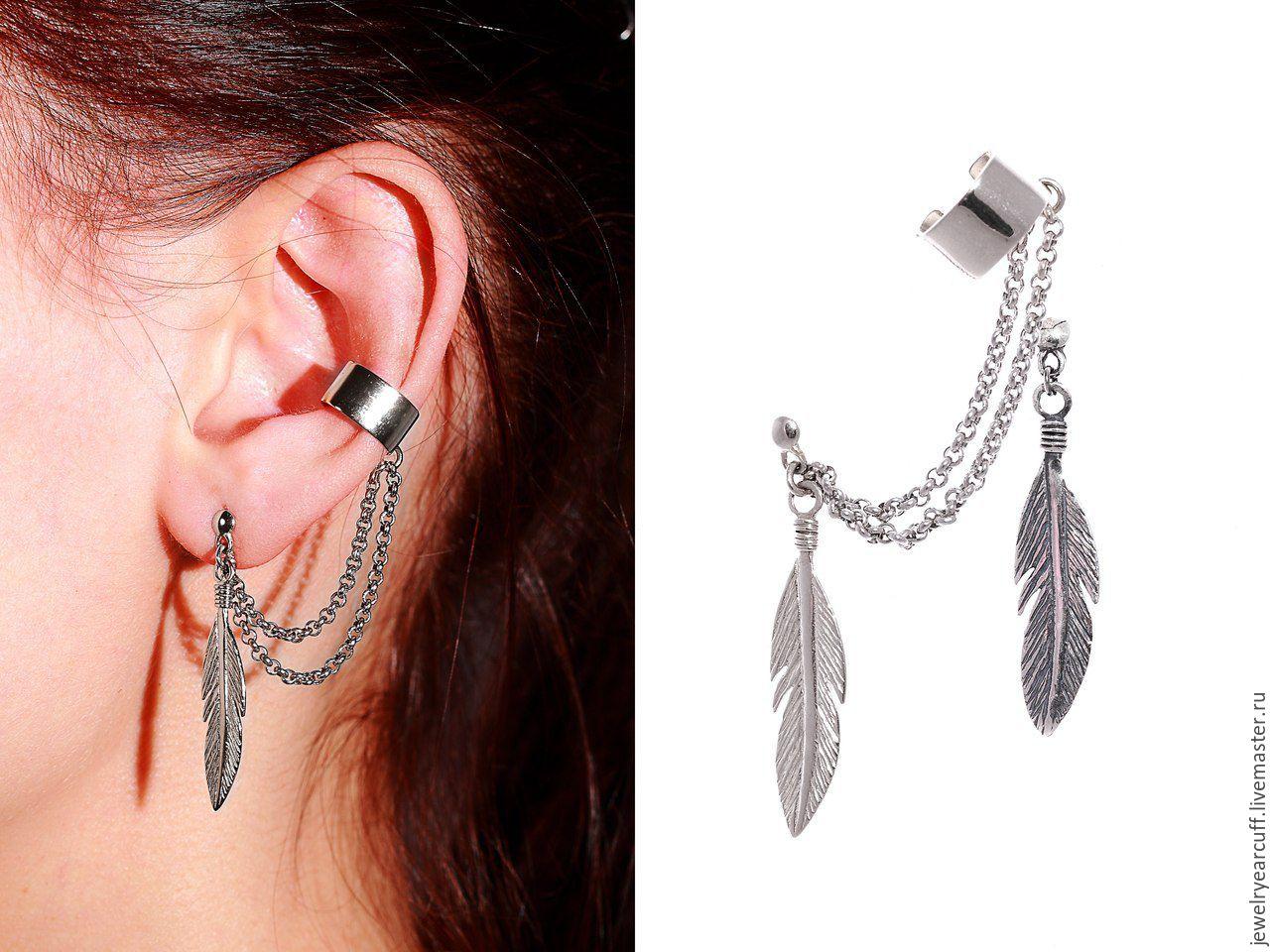 Ярмарка мастеров Ювелирные каффы из серебра 925 пробы или Ear cuff от  Stepan Vasiliev Jewelry. Ярмарка мастеров b140daee3100a