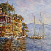 Картины и панно handmade. Livemaster - original item Oil painting Morning in Portofino. Handmade.