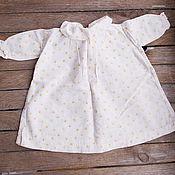 Винтаж ручной работы. Ярмарка Мастеров - ручная работа винтажное хлопковое платье для куклы ручной работы. Handmade.