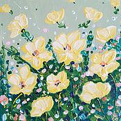 Картины ручной работы. Ярмарка Мастеров - ручная работа Репродукция летние цветы желтые цветы интерьерная картина в детскую. Handmade.