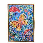 """Картины и панно ручной работы. Ярмарка Мастеров - ручная работа Панно """"Бабочка"""". Handmade."""