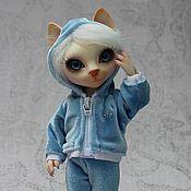 Куклы и игрушки ручной работы. Ярмарка Мастеров - ручная работа Шарнирная кошка Эсперанца-спортсменка. Handmade.