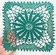 Текстиль, ковры ручной работы. Ярмарка Мастеров - ручная работа. Купить Салфетка вязаная крючком тёмно-зелёная, квадратная. Handmade.