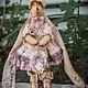 Куклы Тильды ручной работы. Ярмарка Мастеров - ручная работа. Купить Винтажная плюшевая зайка Олин. Handmade. Розовый