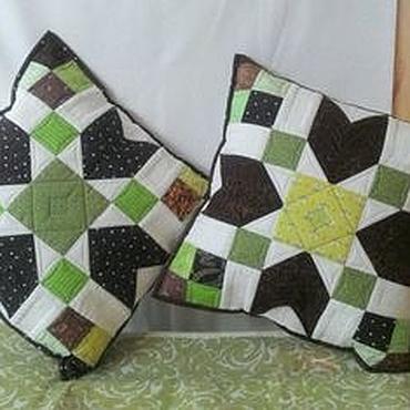 Для дома и интерьера handmade. Livemaster - original item Patchwork pillows. Handmade.