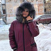 Одежда handmade. Livemaster - original item Demi-season, winter parka jacket in fuchsia color. Handmade.