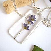 Украшения handmade. Livemaster - original item Transparent Pendant with Sprig of Lavender Botany Eco-Friendly Resin Jewelry. Handmade.