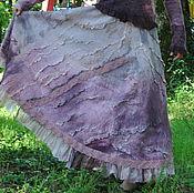 "Одежда ручной работы. Ярмарка Мастеров - ручная работа Шёлковая, валяная юбка ""Орхидея"". Handmade."