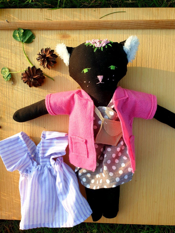 Текстильная игровая кукла Кошка, Амигуруми куклы и игрушки, Москва,  Фото №1