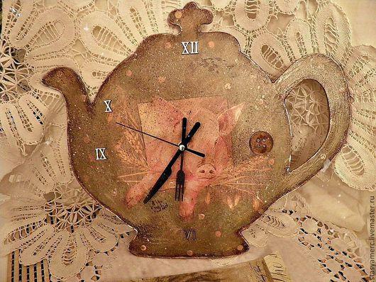"""Часы для дома ручной работы. Ярмарка Мастеров - ручная работа. Купить Часы """"Наше Вам почтение"""". Handmade. Часы для кухни"""