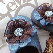 """Обувь ручной работы. Ярмарка Мастеров - ручная работа Тапочки валяные """"Шоколадный десерт"""". Handmade."""