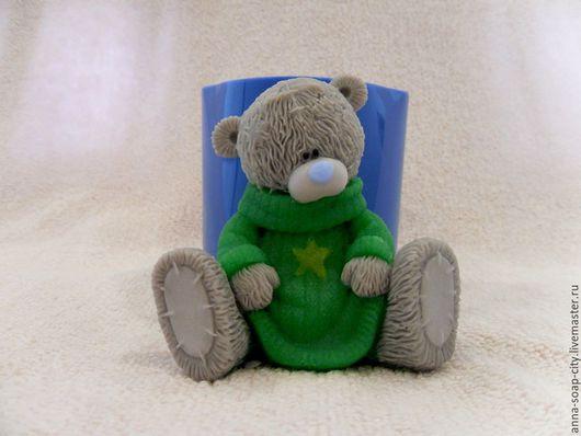 """Другие виды рукоделия ручной работы. Ярмарка Мастеров - ручная работа. Купить Силиконовая форма для мыла """"Мишка Тедди в свитере"""". Handmade."""