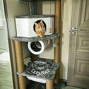 """Для домашних животных, ручной работы. Ярмарка Мастеров - ручная работа Домик для больших кошек """"Малинка 2"""". Handmade."""