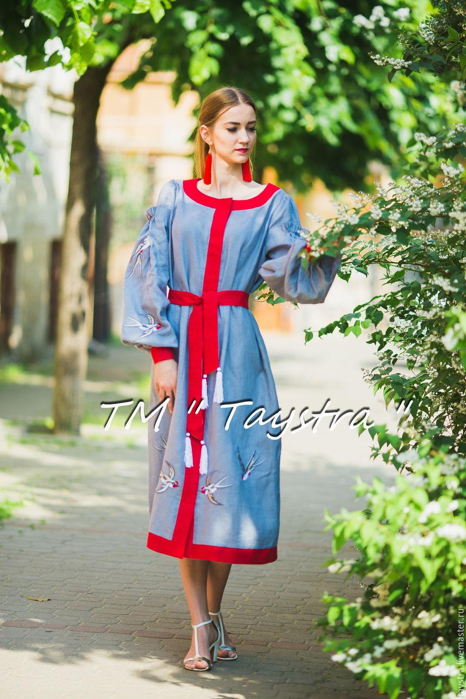 b25a310f503 Платья ручной работы. Ярмарка Мастеров - ручная работа. Купить Вышитое  платье бохо вышиванка.