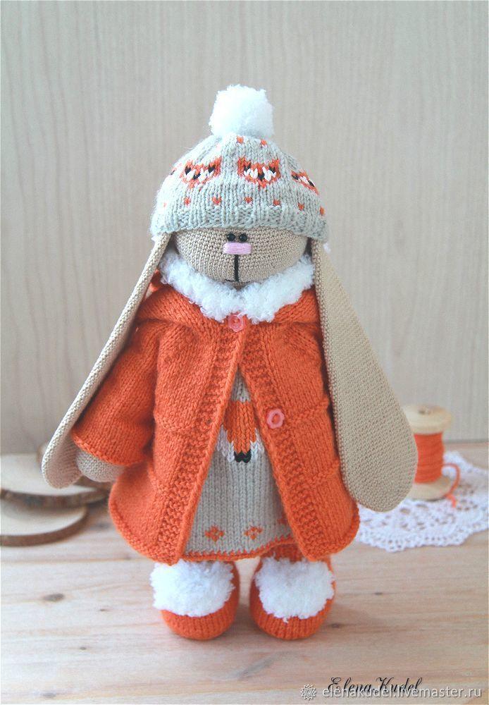 Игрушки животные, ручной работы. Ярмарка Мастеров - ручная работа. Купить Вязаный заяц Тильда. Handmade. Игрушка, детям, хлопок