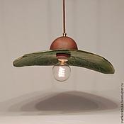 Для дома и интерьера ручной работы. Ярмарка Мастеров - ручная работа Керамический светильник «Большой зеленый Лопух». Handmade.