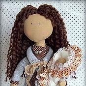 Куклы и игрушки ручной работы. Ярмарка Мастеров - ручная работа Текстильная кукла ДИ с малышом.. Handmade.