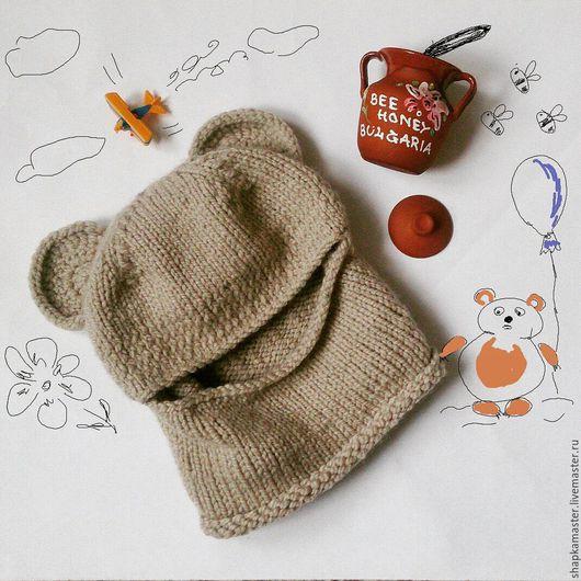 Шапки и шарфы ручной работы. Ярмарка Мастеров - ручная работа. Купить Шапка балаклава Мимишапа. Handmade. Бежевый, шапка, дети
