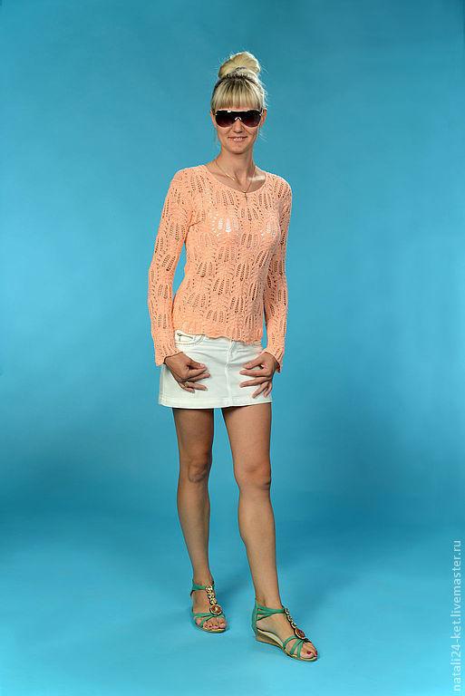 Кофты и свитера ручной работы. Ярмарка Мастеров - ручная работа. Купить блуза оригинальная ажурная. Handmade. Авторская одежда